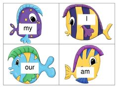 Help your students identify and read sight words with this fun game!  You can play in many ways:  print, cut and laminate all the fish and attach a...