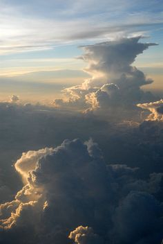 You know these things look a whole lot prettier from the top.  Cloud surfing, anyone?