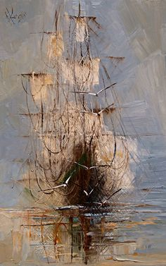 See Justyna Kopania related art work. Find beautiful Original Art , Canvas Transfers and Art Reproductions of contemporary masters. Ship Paintings, Landscape Paintings, Abstract Expressionism, Abstract Art, Ship Art, Art Plastique, Art Reproductions, Painting Inspiration, Art Boards