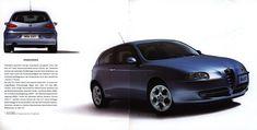 Alfa Romeo 147, 2000, 2001_2, car brochures Bugatti, Lamborghini, Ferrari, Alfa Romeo 147, Car Brochure, World Traveler, Brochures, Automobile, Car