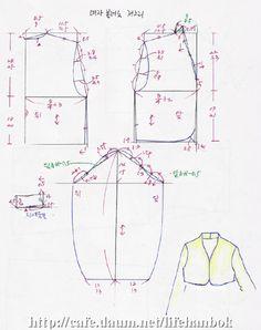 볼레로형 저고리 Sewing Hacks, Sewing Tutorials, Sewing Crafts, Korean Dress, Korean Outfits, Sewing Paterns, Korean Traditional Dress, Fashion Design Drawings, Sewing Techniques
