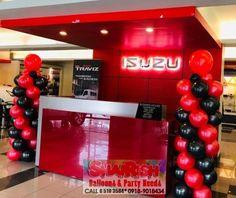 The ALL-NEW Isuzu TRAVIZ at Isuzu Pasig. Balloon Pillars, Balloon Decorations, Balloons, Party, Fiesta Party, Parties, Balloon, Ballerina Baby Showers, Hot Air Balloons