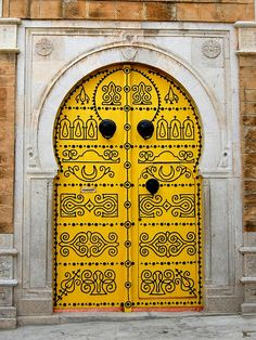 Door, Tunisia. I've been there!!! :) but I must have missed the yellow door