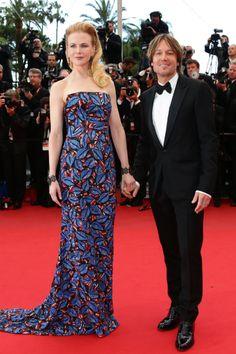 Nicole Kidman de L´Wren Scott, un vivo estampado bordado de paillettes.