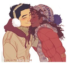 "by viria:  ""I wanted to draw Hazel and Frank, that's all uwu"""