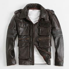 Find More Leather & Suede Information about M65 Hunting Jacket Retro Men's…