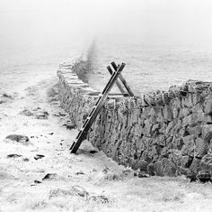 Frozen Mourne Wall, Mourne Mountains, Co Down, Ireland