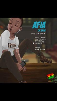Afua Black Love Art, Black Girl Art, Black Girls Rock, Beautiful Black Women, Black Girl Magic, Art Girl, Female Portrait, Female Art, Ghanaian Names