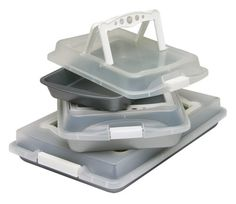 OvenStuff Non-Stick Six Piece Covered with Handles Bakeware Set - White OvenStuff http://www.amazon.com/gp/offer-listing/B001BCKNV2/ref=as_li_tl?ie=UTF8&camp=211189&creative=373493&creativeASIN=B001BCKNV2&link_code=am3&tag=wonderfulrota-20&linkId=TXCPWKEIIY4DC2WY