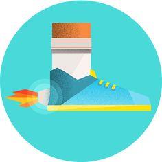 Illustrations sport icons by Sam Markiewicz