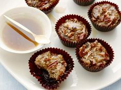 Get Bread Pudding Cups with Bourbon Sauce Recipe from Food Network
