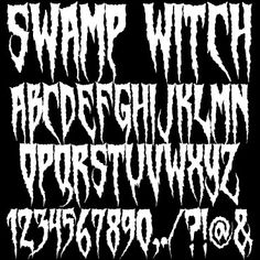 halloween fonts by the talented chad savage at sinister visions