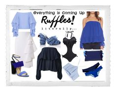 Ruffles by istyled on Polyvore featuring polyvore, moda, style, Dondup, Rosie Assoulin, Zara, Moschino, Victoria's Secret, Marco de Vincenzo, Paul Andrew, Roksanda, Polaroid, fashion and clothing