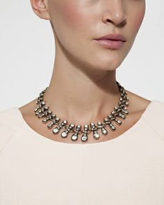 Crystal Lace Necklace by Stylemint.com, $29.99