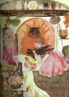 children's books illustrations: Hanna Januszewska. Kopciuszek. ill. Bożena Truchanowska. 1970. oorspr. Charles Perrault. Assepoester. Septuaginta. Vic Sjouwerman