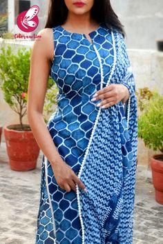 Pakistani Dresses Casual, Indian Fashion Dresses, Fashion Outfits, New Suit Design, Neck Design, A Line Kurti, Cotton Suit, Yellow Print, Kurta Designs