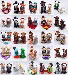Custom+Wedding+Cake+Topper+Polar+Bears+by+HeartshapedCreations,+$58.00