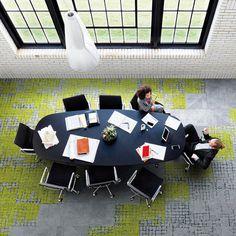 Interfacen tekstiililaatoissa sisustuksellisuus kohtaa käytännöllisyyden│Laattapiste Waiting Area, Entrance, Lounge, Concept, Flooring, Contemporary, Studio, Creative, Blue