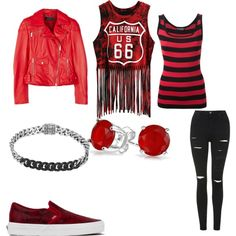 Red Day by wolfwarrior688 on Polyvore featuring polyvore fashion style Dolce&Gabbana Karen Millen Topshop Vans John Hardy Bling Jewelry