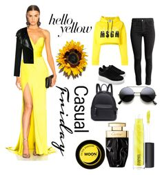 """""""HELLO YELLOW🎀"""" by erenyhany ❤ liked on Polyvore featuring Alexandre Vauthier, Lanvin, MSGM, Alexander McQueen and John Lewis"""