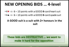 BIDDING: Opening Pre-emptive at the 4 level in a Major suit with 6-10 HCPs and 8 card suit https://youtu.be/o_5wWlHsYgk