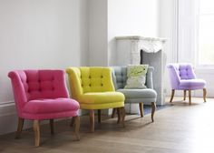 Heart Home Loves Cotton Furniture by Oliver Bonas is part of Bedroom chair Here at Heart Home we are loving the colourful cotton furniture by Oliver Bonas Designed exclusively in house and made i - Oliver Bonas, Bedroom Chair, Painted Chairs, Tub Chair, Soft Furnishings, Custom Pillows, Decoration, Architecture, Home Furniture