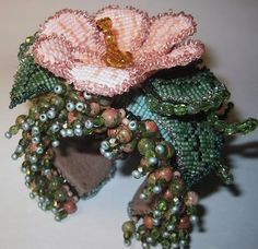 """I love the way Erin goes """"off the bead'n path"""" - Beaded Wrist Corsages by Erin Simonetti"""