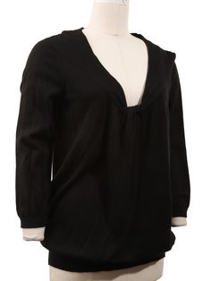 Black Twisted Sweater Top - L