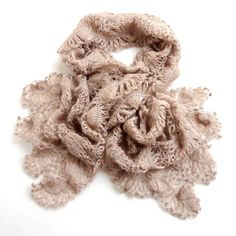 Luxurious wedding bridal  wrap shawl - scarf - light brown beige - Hand Crocheted Wrap Shawl , lace shawl scarf , EXPRESS DELIVERY on Etsy, $140.00