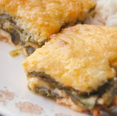 A surefire potluck hit, this spicy casserole is a healthier, baked version of beef chiles rellenos, with roasted poblano peppers and cheese! Mexican Cooking, Mexican Food Recipes, Beef Recipes, Cooking Recipes, Pepper Recipes, Yummy Recipes, Recipies, Casserole Dishes, Casserole Recipes
