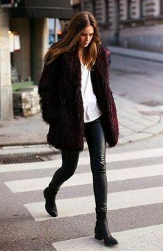 Outfit abrigo peluche