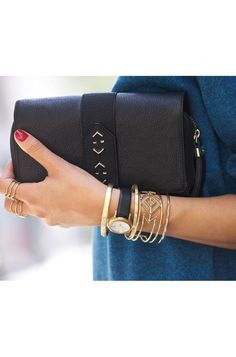 Black and Gold Statement Bracelet Cuff | Stella & Dot