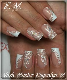 french nails tips Sparkle French Nails Elegant, French Nail Art, French Tip Nails, French Manicures, Elegant Bridal Nails, White French Nails, French Tips, Elegant Nail Designs, French Nail Designs