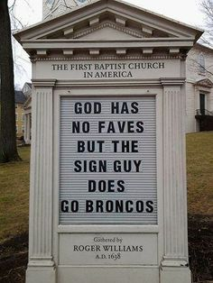 Puckish Providence Church Sign Challenges the New England Faithful. #nfl #football @New England Patriots