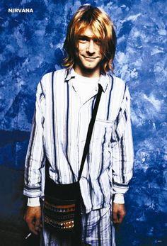 Kurt Cobain in wedding pajamas