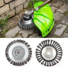 [free ship] Landscaping Rotary Weed Brush Joint Knot Replacement Steel Wire Wheel Brush Disc 8 inch Weed Grass Trimmer Blade ~ garden parts Grass Cutter, Dust Removal, Cool Tools, Weeding, Backyard Landscaping, Hedges Landscaping, Landscaping Tools, Garden Tools, Blade