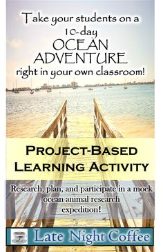 Grades 3-8 : This project based learning activity takes your students into the world of marine biology! Students begin their adventure setting up their research team and ultimately going out to do research on their ocean animal! Great way to incorporate science, math, reading, writing, social studies, and art into one great learning experience!