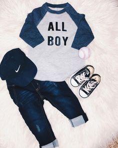 ALL BOY #boystyle #babyboy #toddlerboyootd #toddlerfashion #baseball #nike #converse #diy #allboy