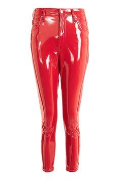 PETITE Red Vinyl Jamie Jeans