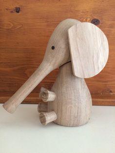 Woodturning elephant
