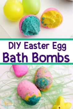 Calming Easter Bath Bombs with Lavender and Peppermint Essential Oils – Views From a Step Stool – Play-Based Kids Activities + Positive Parenting – Homemade baby foods Easter Games For Kids, Homemade Paint, Homemade Bath Bombs, Plastic Easter Eggs, Easter Art, Coloring Easter Eggs, Homemade Baby Foods, Baby Food Recipes, Peppermint