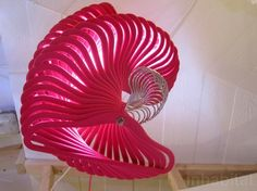 A lamp made out of #recycled hangers at Designersblock at Lodon Design Festival 2013