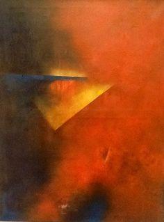 """Amanecer geométrico""  - Ana María Toledo -  Oleo sobre tela -   90 x  60 cm www.esencialismo.com ."