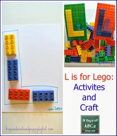 The Letter L is for Lego: craft and activities by FSPDT