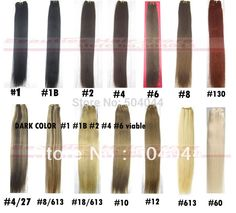 """16"""" 18"""" 20"""" 22"""" 24"""" 26"""" 28"""" 30"""" 32""""silky soft indian remy Human Hair weft weaving deep color #1 #1b #2 #4 #6 100g/pcs"""