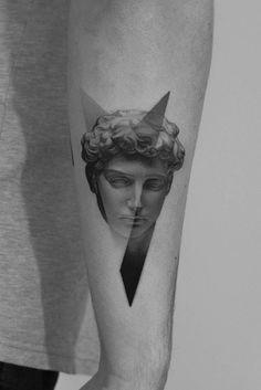 Mini Tattoos, Black Tattoos, Body Art Tattoos, Small Tattoos, Sleeve Tattoos, Tattoos For Guys, Aesthetic Tattoo, Aesthetic Drawing, David Tattoo