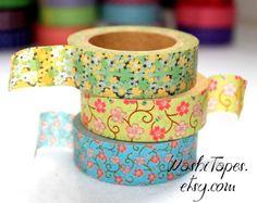 Washi Tape Set   Japanese Washi Tape Set  3 rolls  by WashiTapes, $9.00