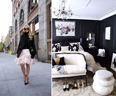 Black walls, fur, an