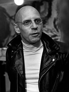 Michel Foucault. One of the few professors ever to wear a leather jacket.