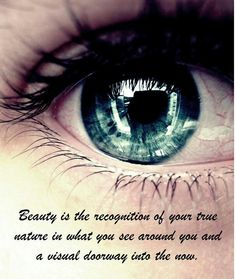 This explains 'beauty's in the eye of the beholder'.